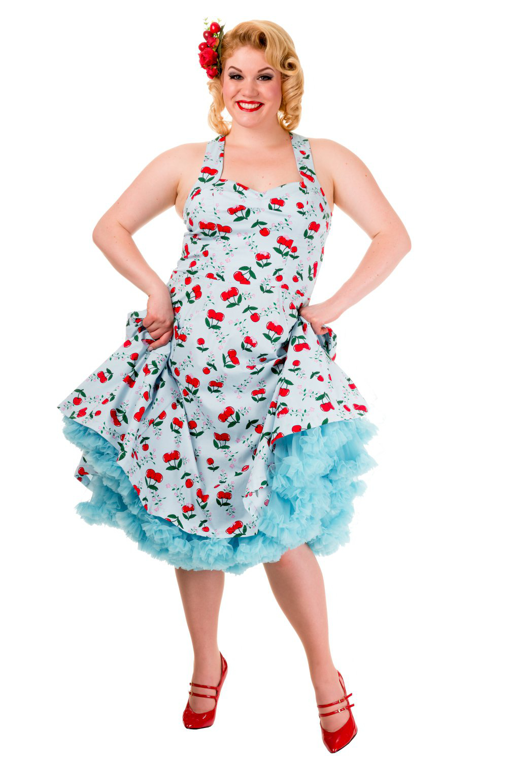 Vintage Plus Size Banned Dress With Optional Petticoat