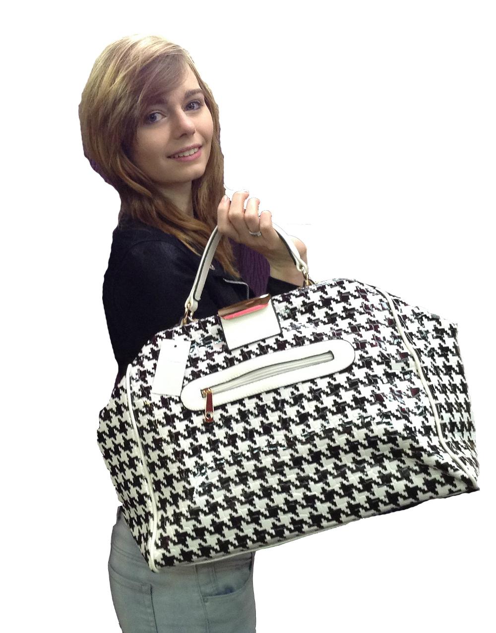 Panache Boutique Dover Phoebe Houndstooth Handbag