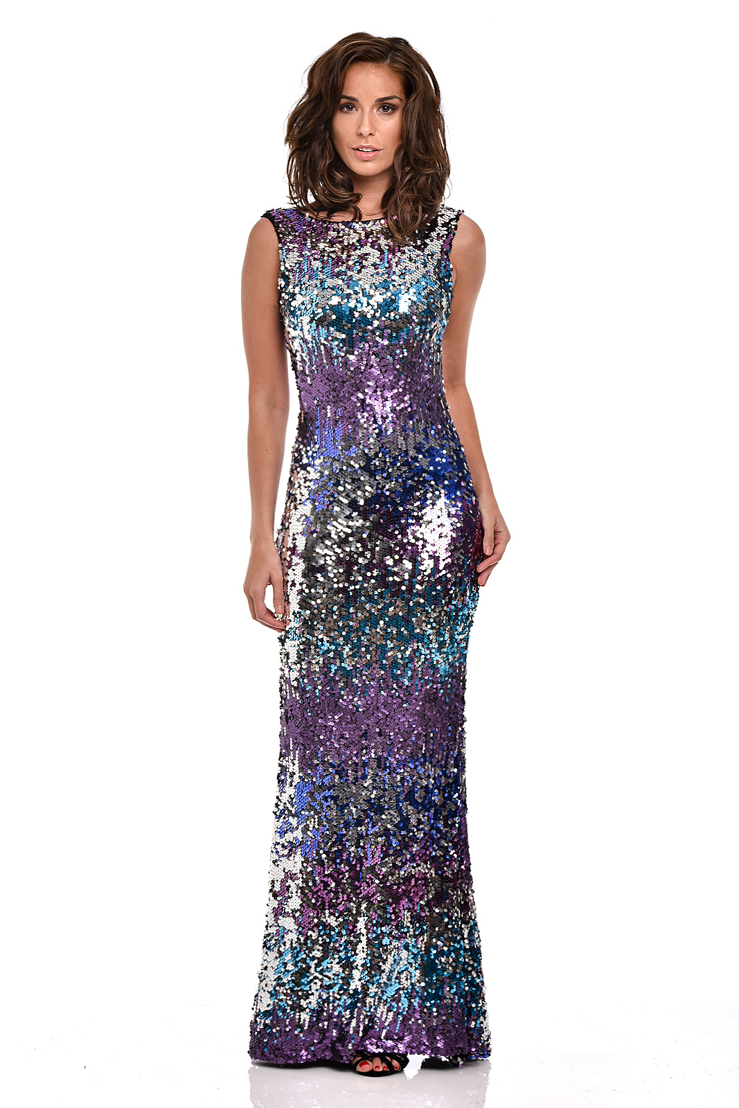 Nazz Pia Maxi Fishtail Sequin Dress