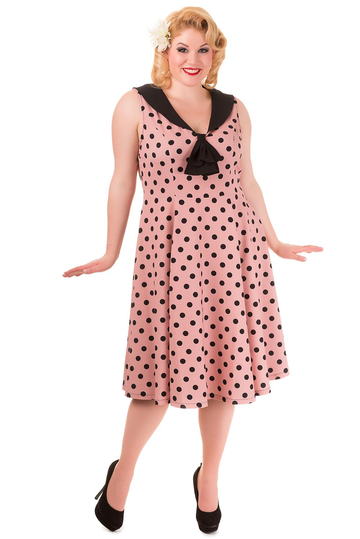 Banned Vintage 1940's Pink Polka Dot Rival Dress