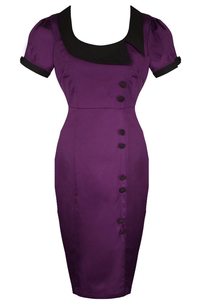 Banned Purple Retro Midi Dress