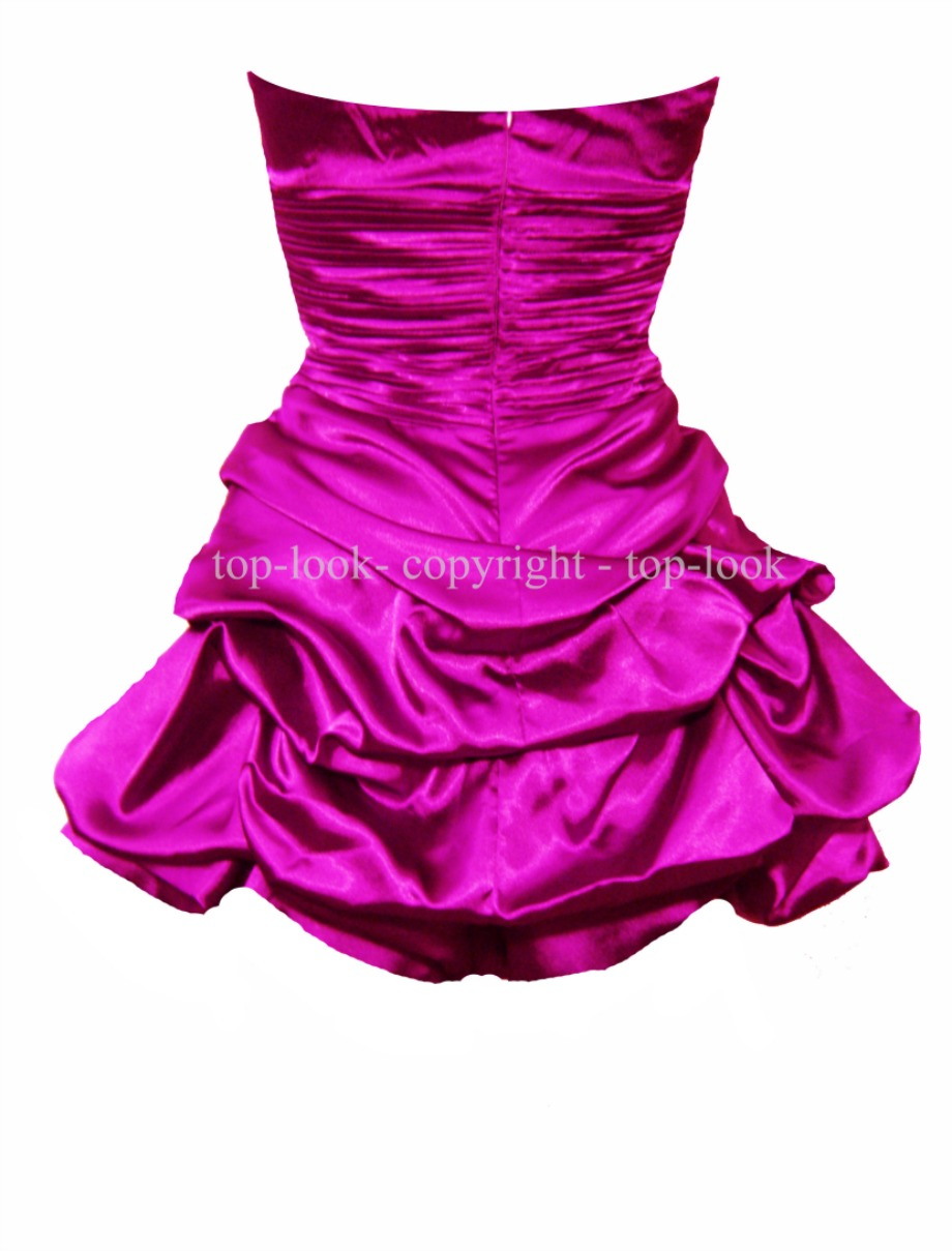 Davina Mini Strapless Purple Prom Dress