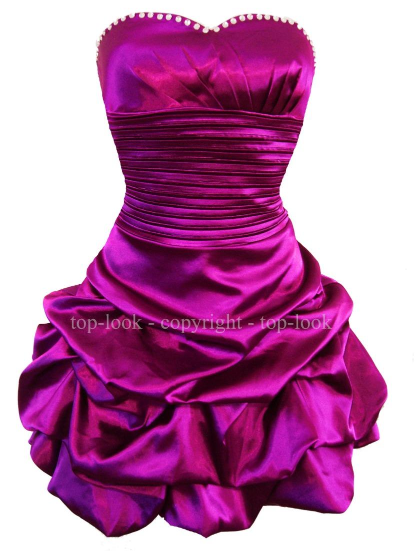 Davina Mini Strapless Purple Prom Dress 2016