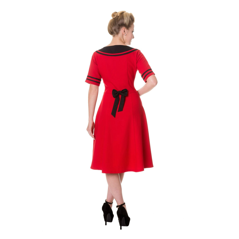 Red Banned Vintage Dress