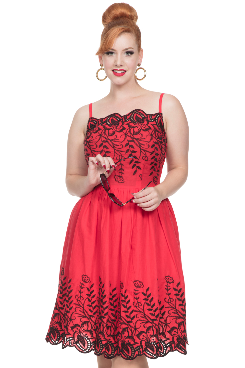 Voodoo Vixen Red Scarlett 50s Dress