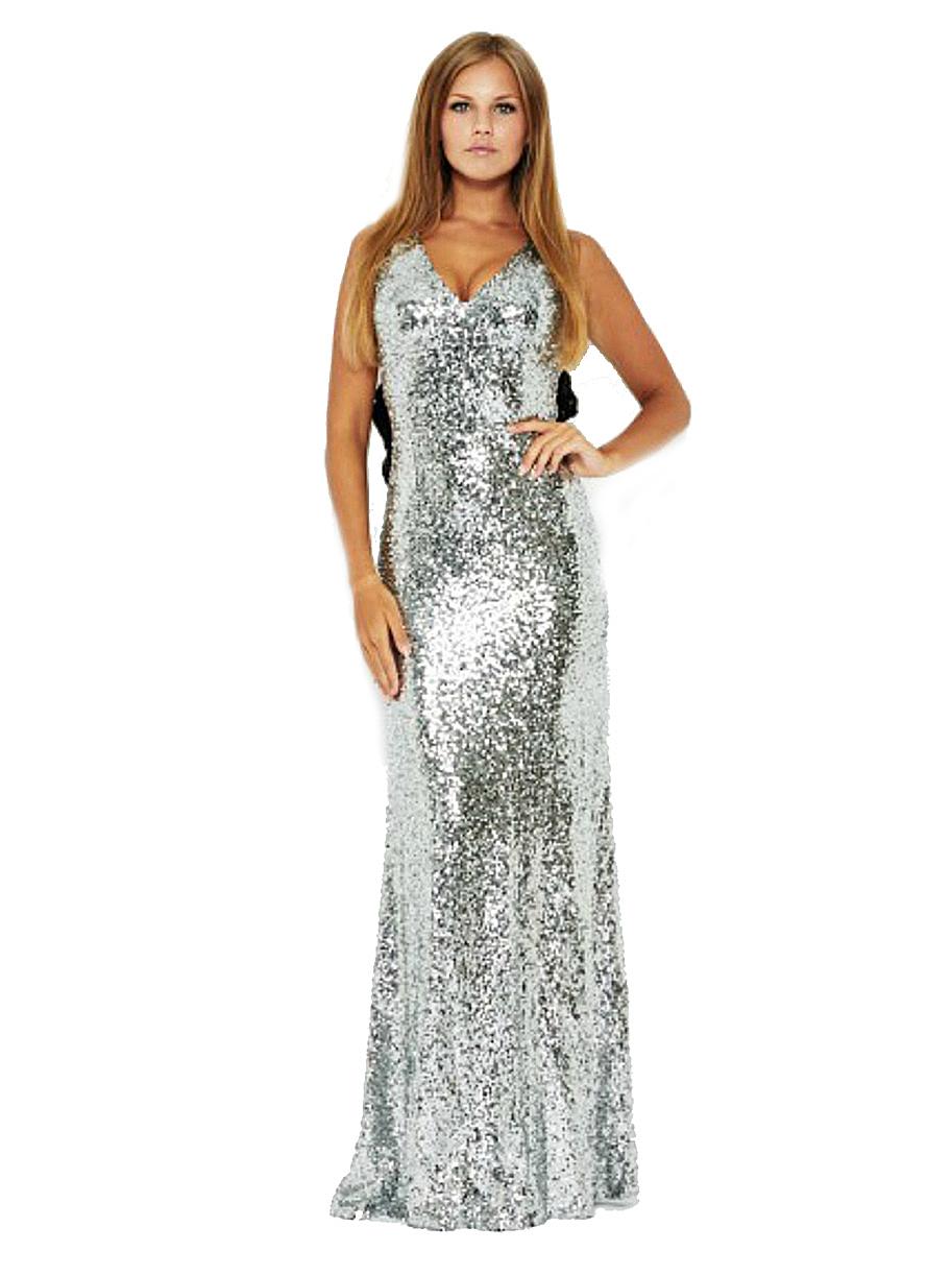 Silver Sequin Marilyn Mermaid Dress