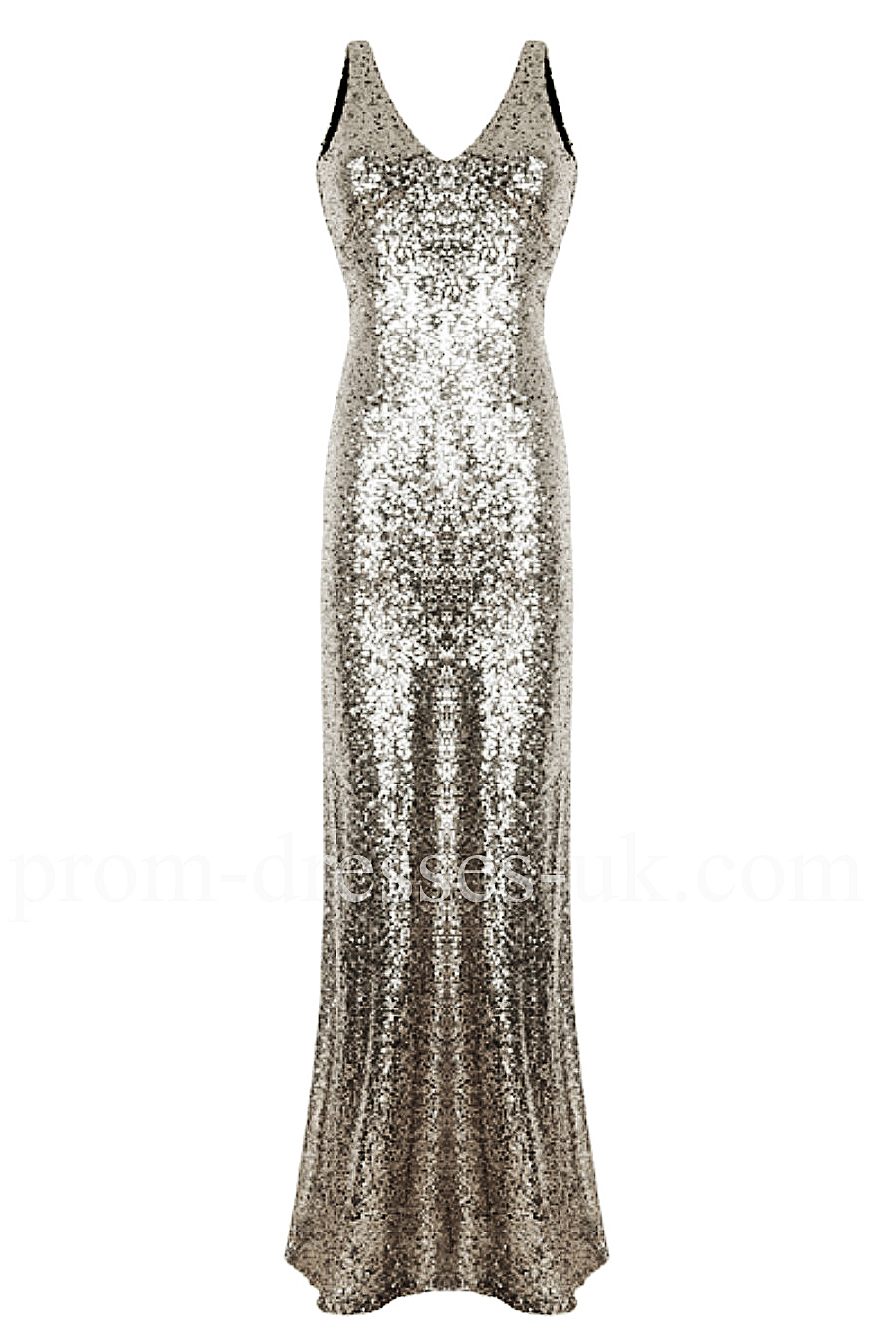 Silver Fishtail Party Prom Dress