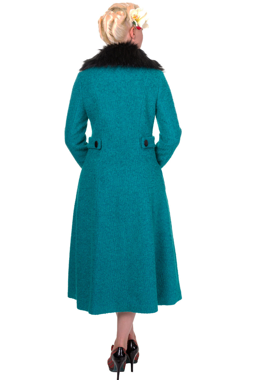 Banned By Dancing Days Simple Game Emerald Winter Coat
