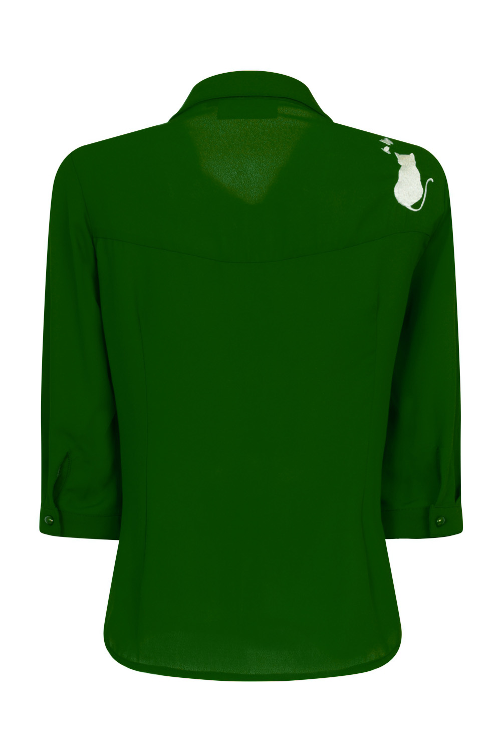 Banned Retro 60s Snowbird Blouse in Emerald