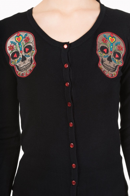 Sugar Skull 50s Rockabilly Emo Cardigan