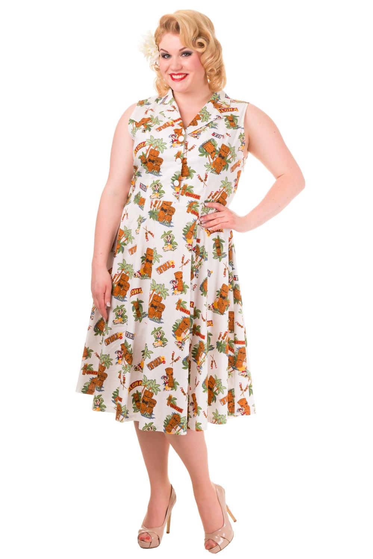 Banned Vintage Tiki Plus Size Dress