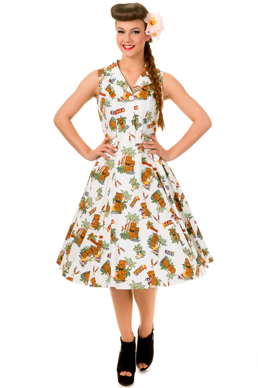 Banned Tiki Sleeveless Hawaiian Dress
