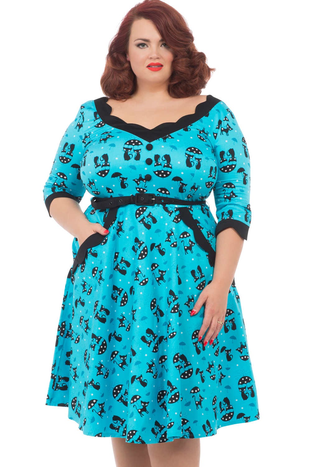 Voodoo Vixen Blue Katnis Plus Size Dress