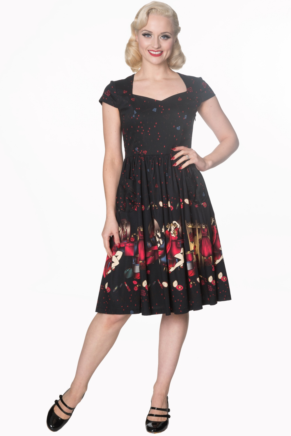 Dancing Days Black Vanity 50s Dress
