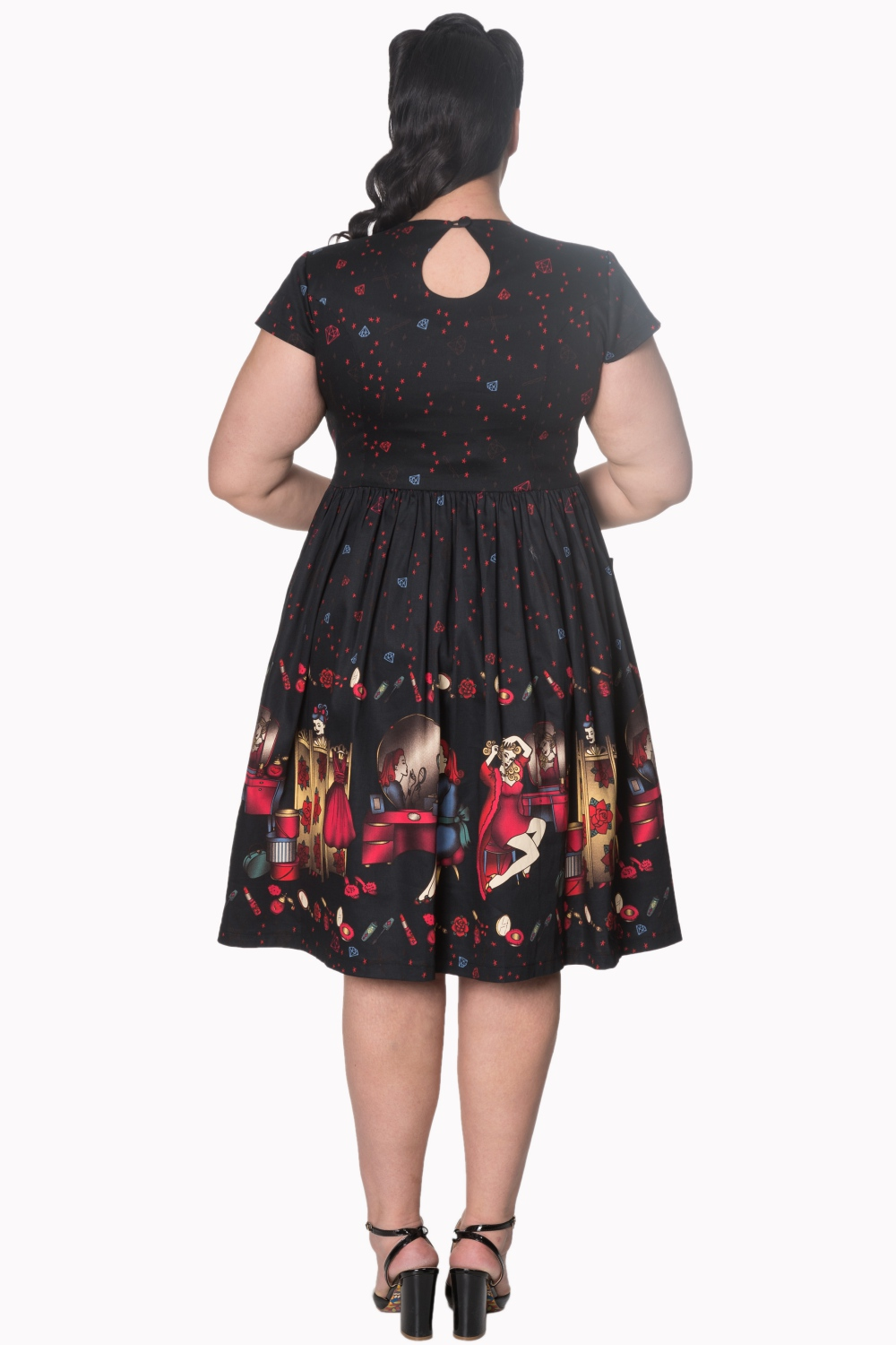 Dancing Days Black Vanity 50s Curve Dress