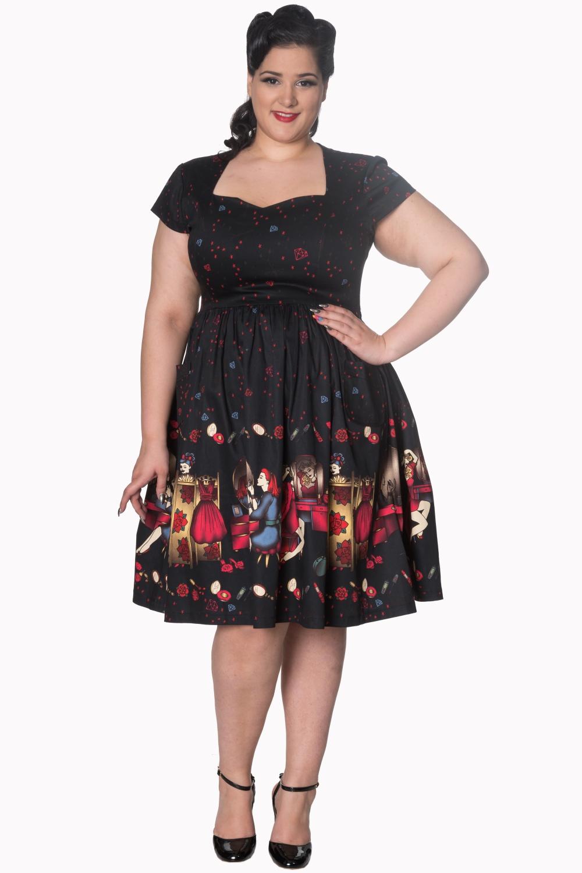 Dancing Days Black Vanity 50s Curve Dress