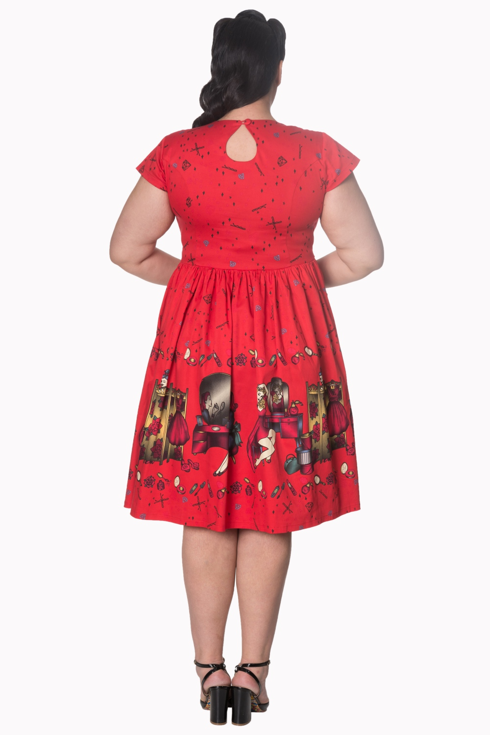 Dancing Days 50s Red Vanity Dress