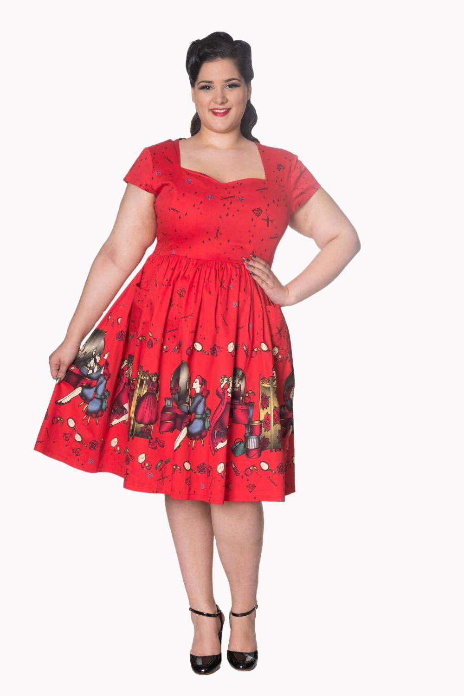 Dancing Days 50s Red Vanity Dress