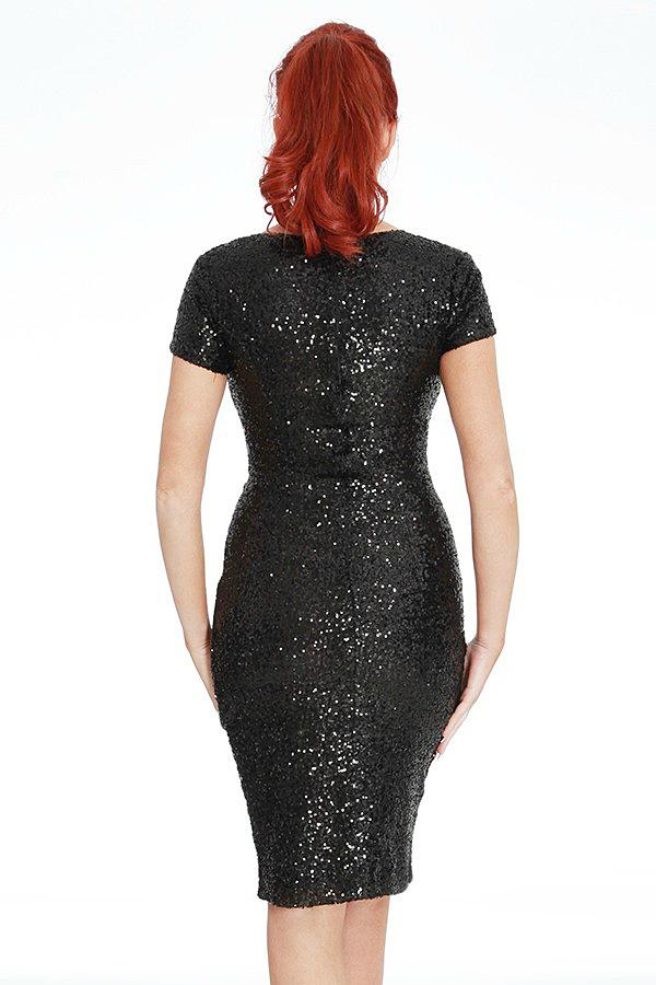 Amy Childs Vogue Black Sequin Dress