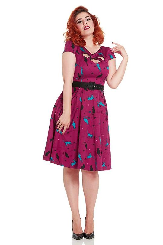 Voodoo Vixen Charlotte Retro Cat Dress