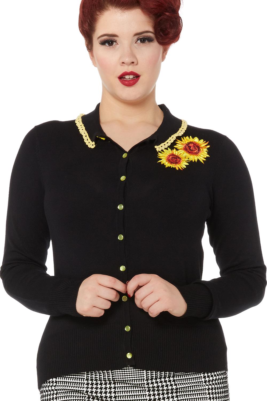 Voodoo Vixen Daisy Sunflower Cardigan