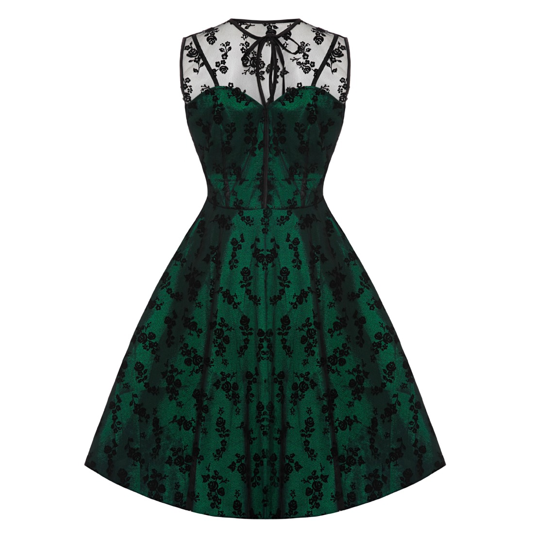 Voodoo Vixen Green Penny Dress