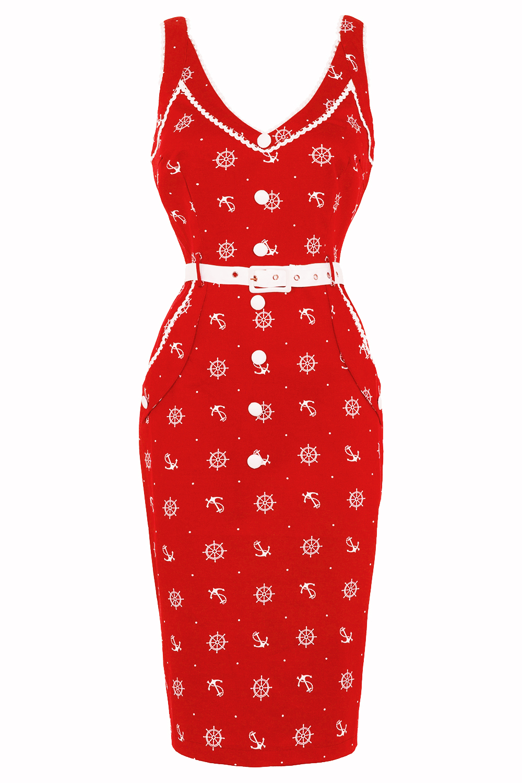 Voodoo Vixen Ida Nautical Dress