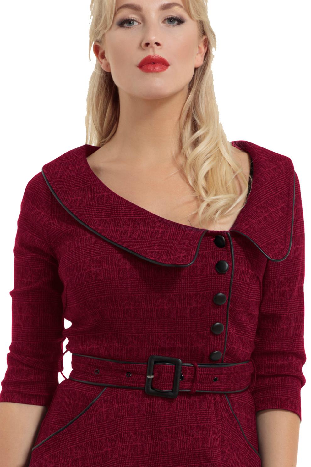 Voodoo Vixen Lilly 40s Red Swing Dress