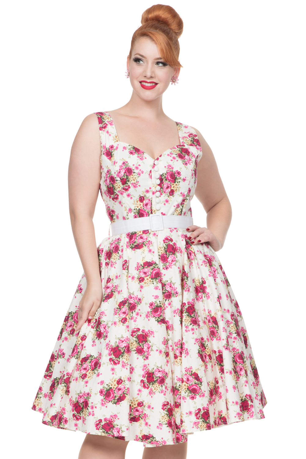 Voodoo Vixen Nicolette 1950s Swing Dress