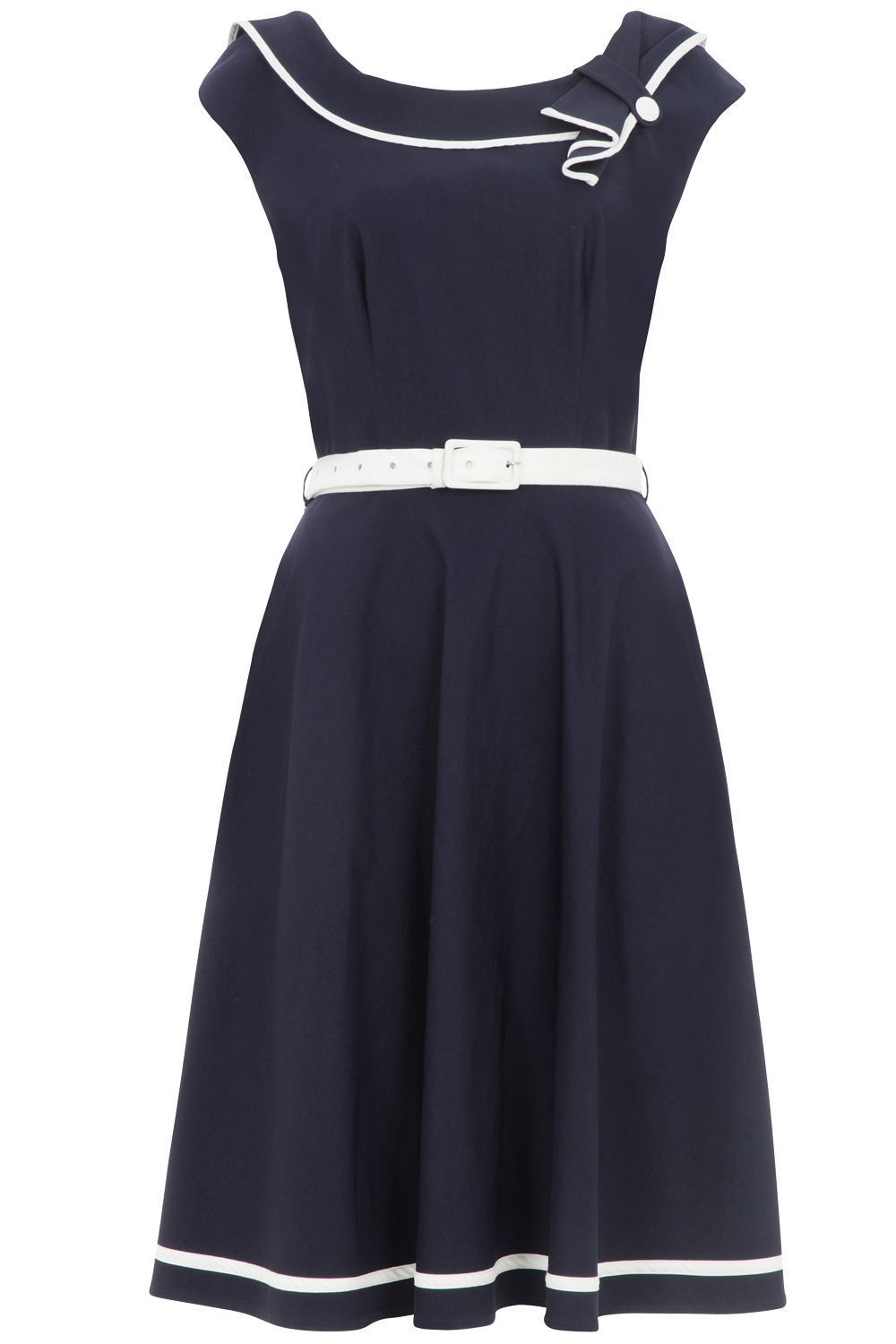 Voodoo Vixen Navy Nora Dress