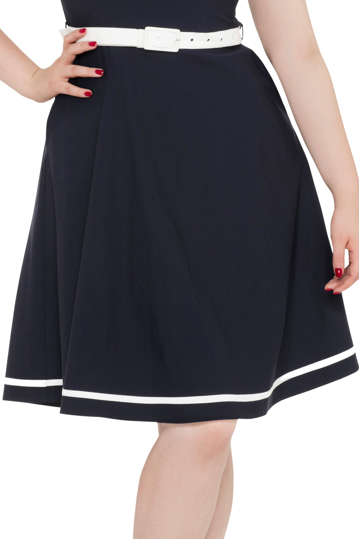 Voodoo Vixen Navy Nora Dress