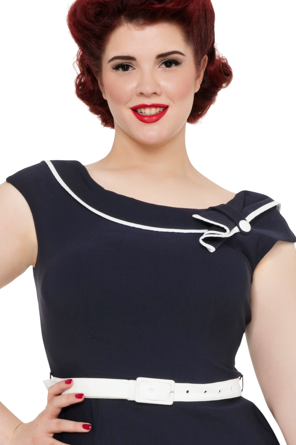 Voodoo Vixen Navy Nora Dress Zoom