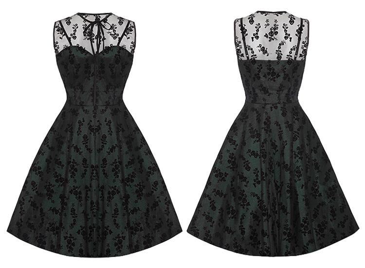 Voodoo Vixen Black Penny Dress