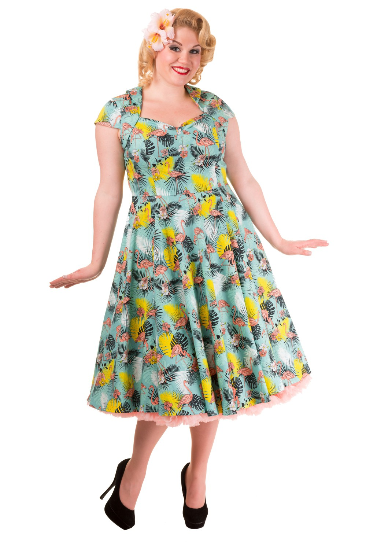 Banned Wanderlust Flamingo Rockabilly Shrug Plus Size Dress