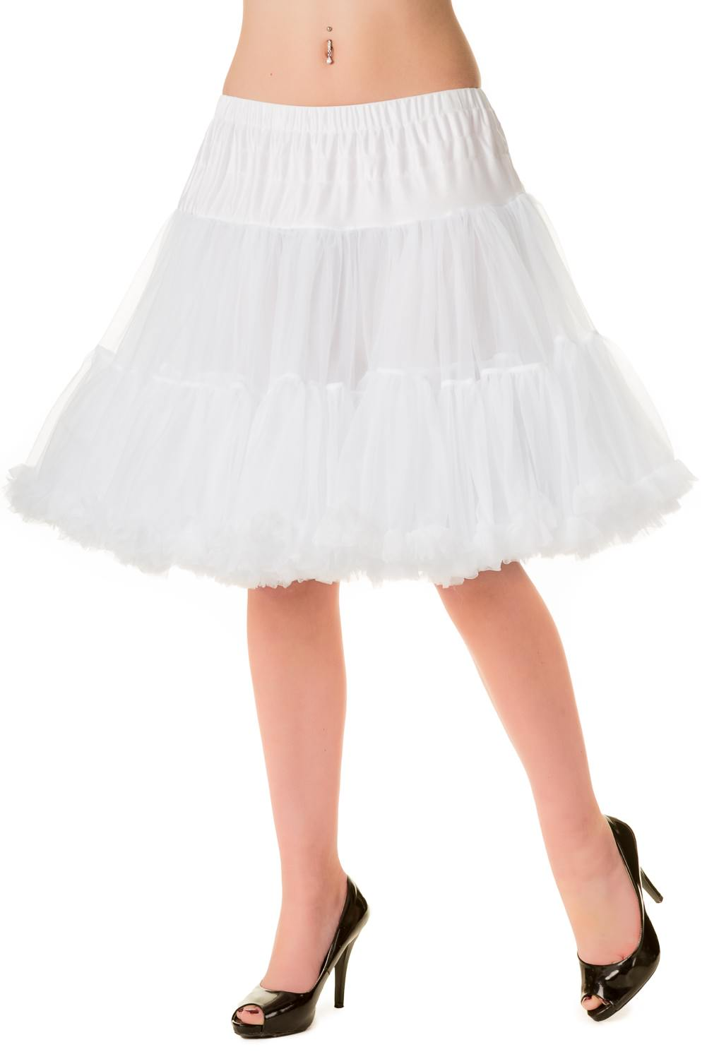 Banned Retro 50s Walkabout White Petticoat