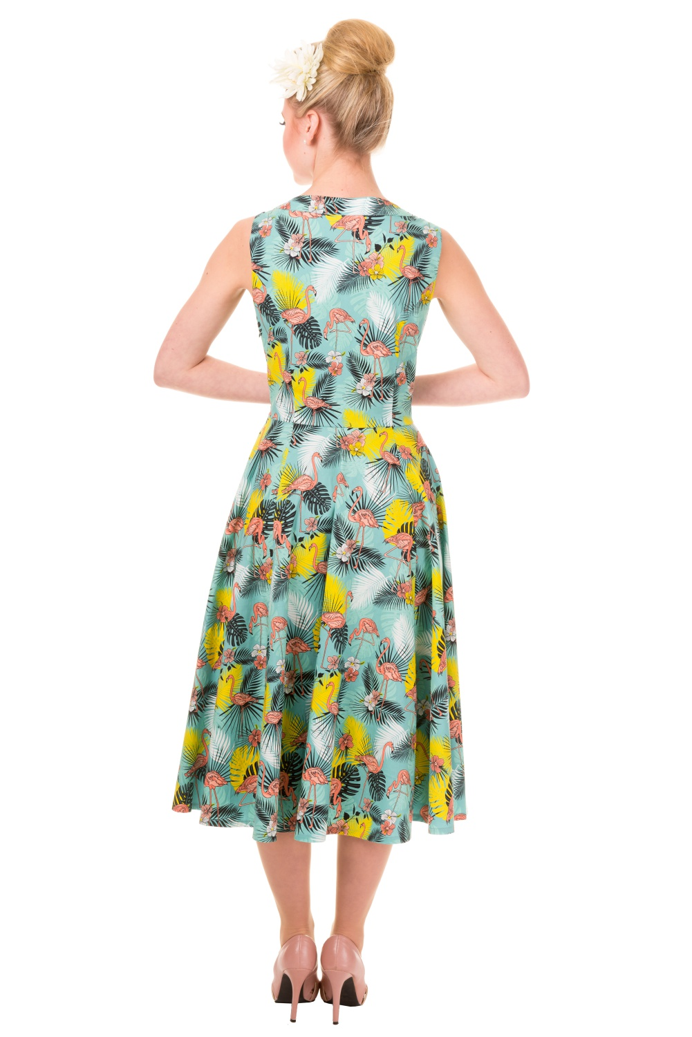 Banned Wonderlust Tropical Flamingo Rockabilly Prom Dress