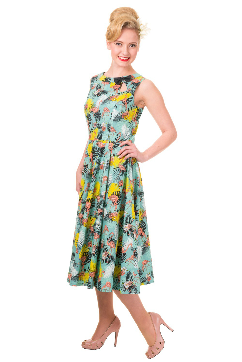 Banned Wonderlust Tropical Flamingo Rockabilly 50s Dress