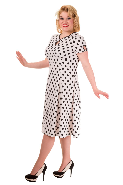 Banned Vintage White Wonderwall 1940s Plus Size Dress