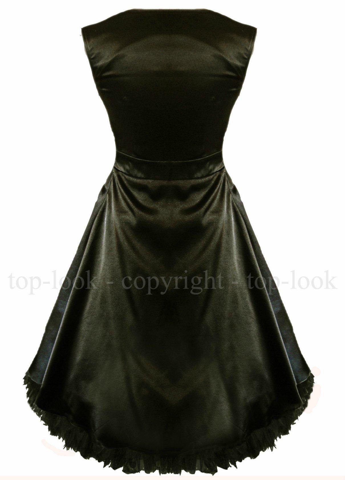 Enlarge Black Satin Bow Prom Dress
