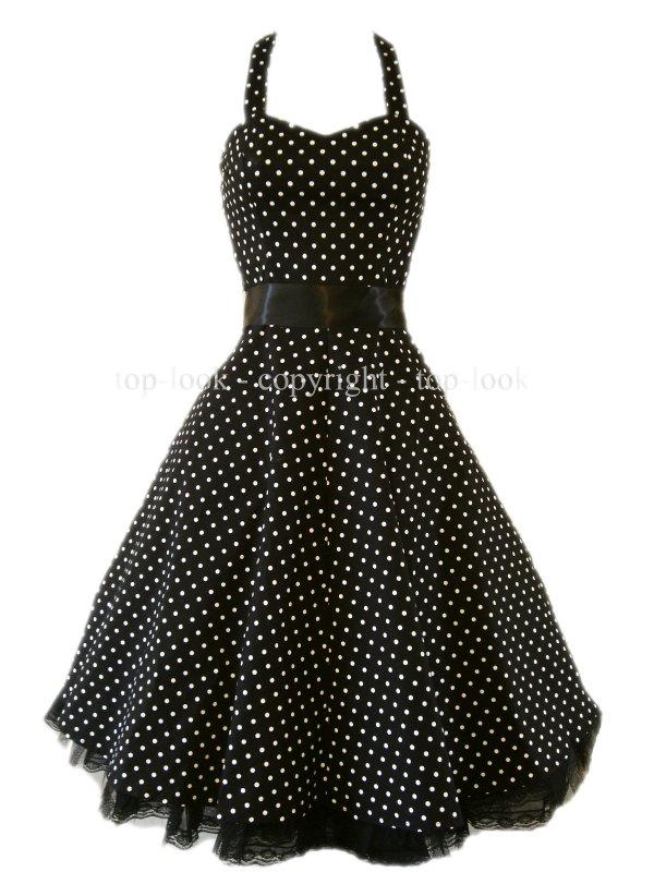 H&R Polka Dot Dress For Vase Body Shapes