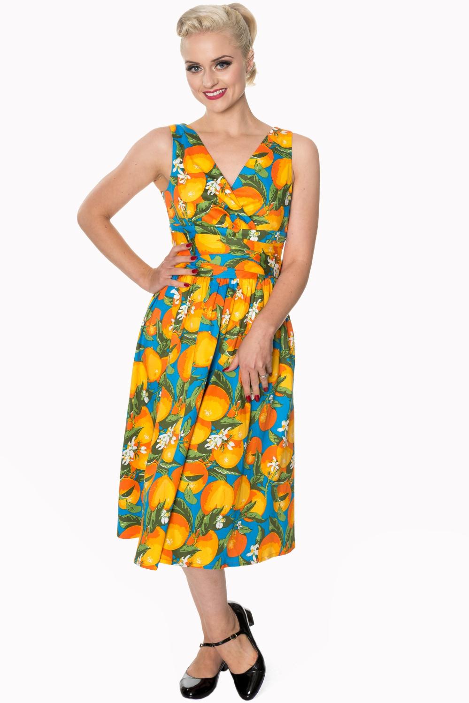 Dancing Days Laneway 1950s Orange Dress