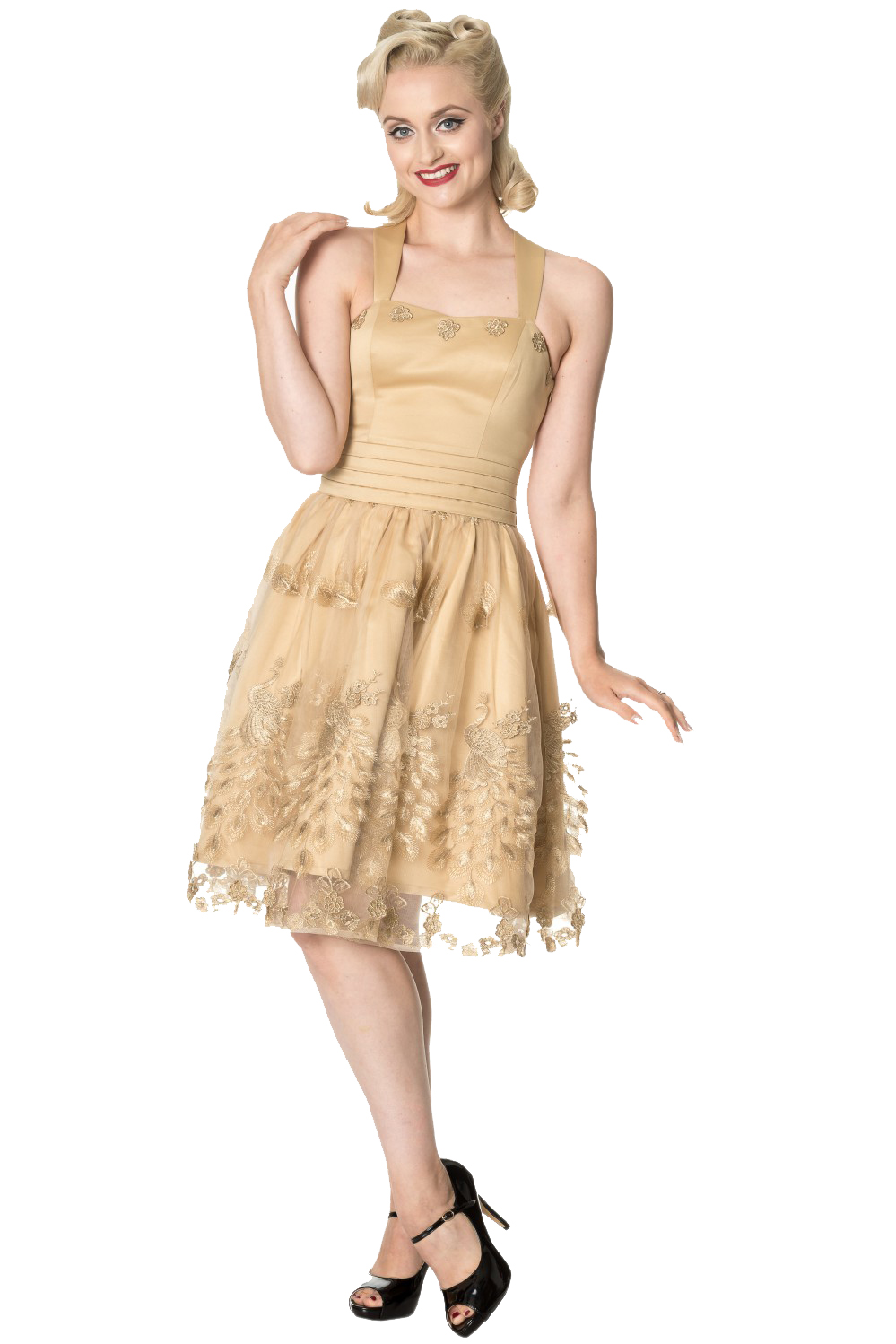 Dancing Days Moonlight Escape Gold Prom Dress