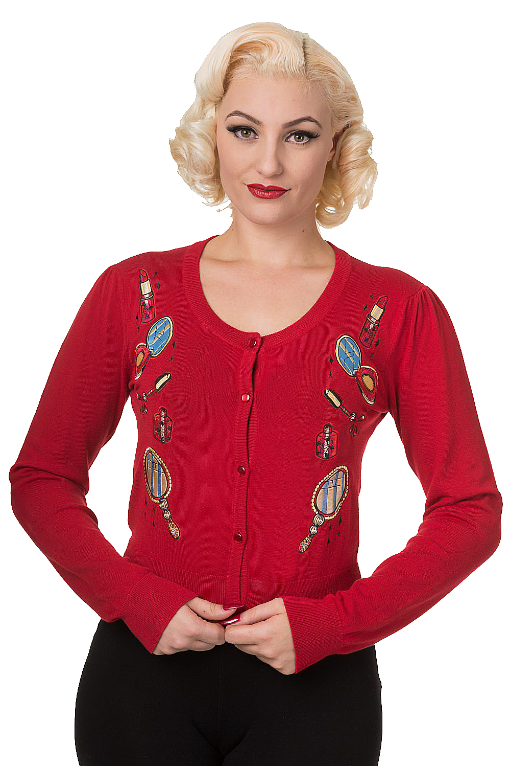 Banned Red Vintage Perfume Cardigan
