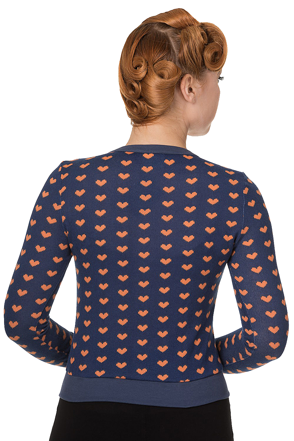 Banned Mint Navy Blue Lovehearts Cardigan