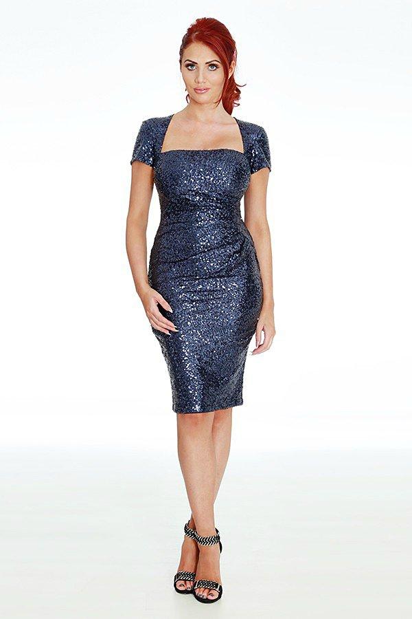 Amy Childs Vogue Midnight Blue Midi Dress