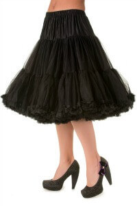 Banned Retro 50s Lizzy Lifeforms Black Petticoat
