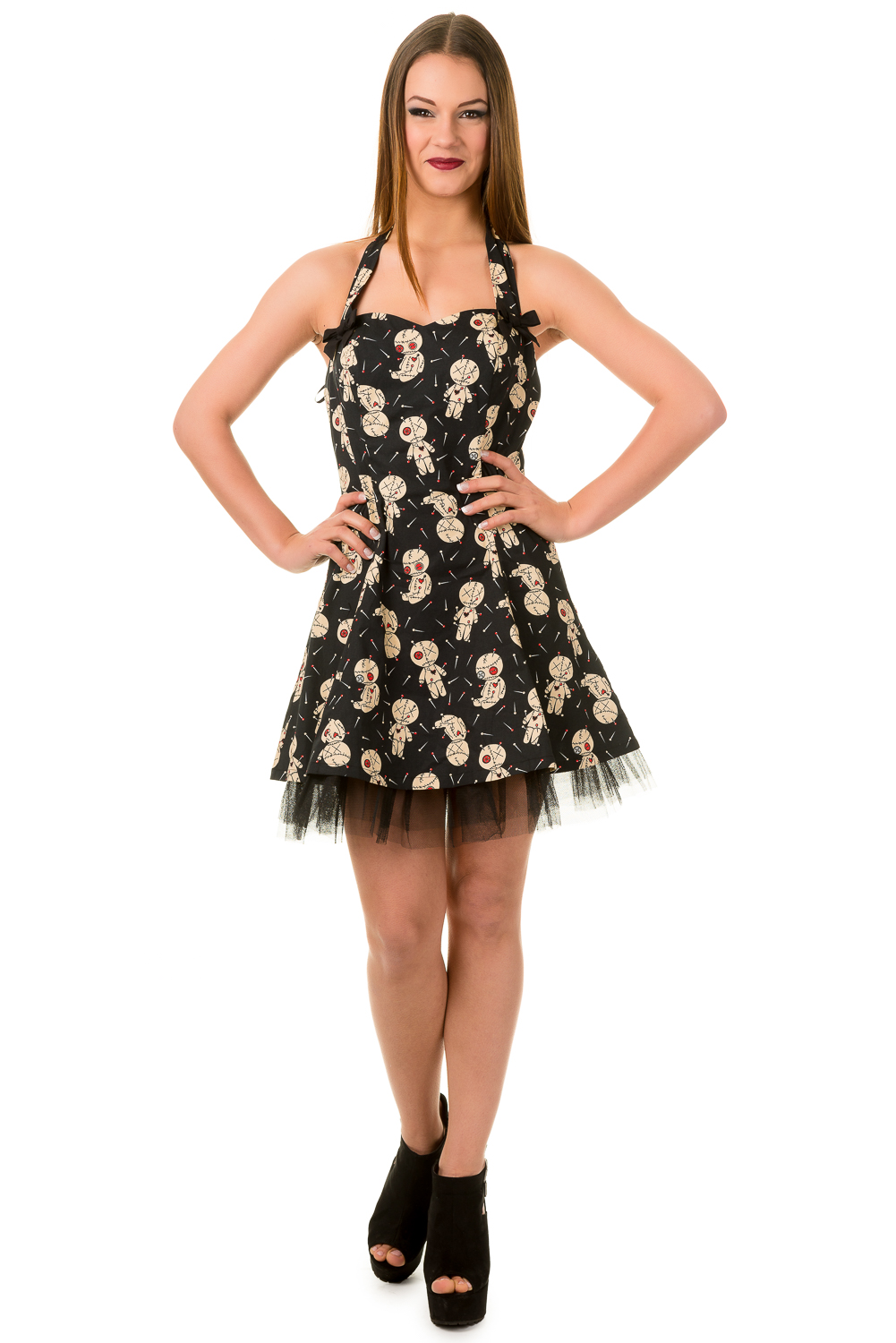 Banned Distractions Voodoo Dolls Mini Dress