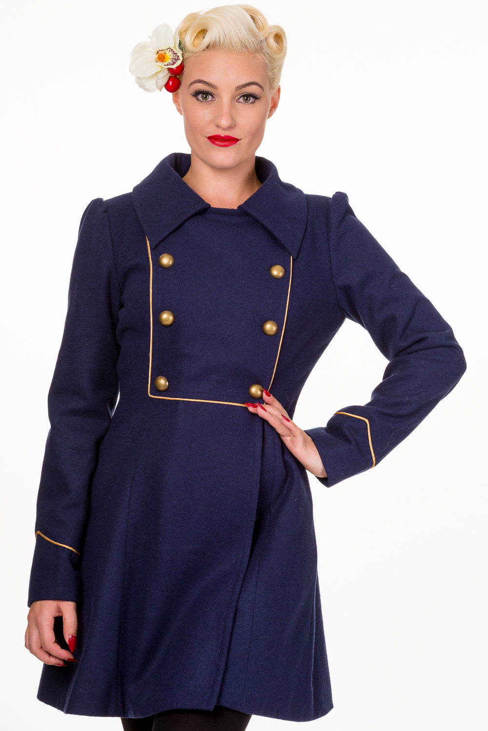 Banned Blue Into The Night 1940s Military Coat