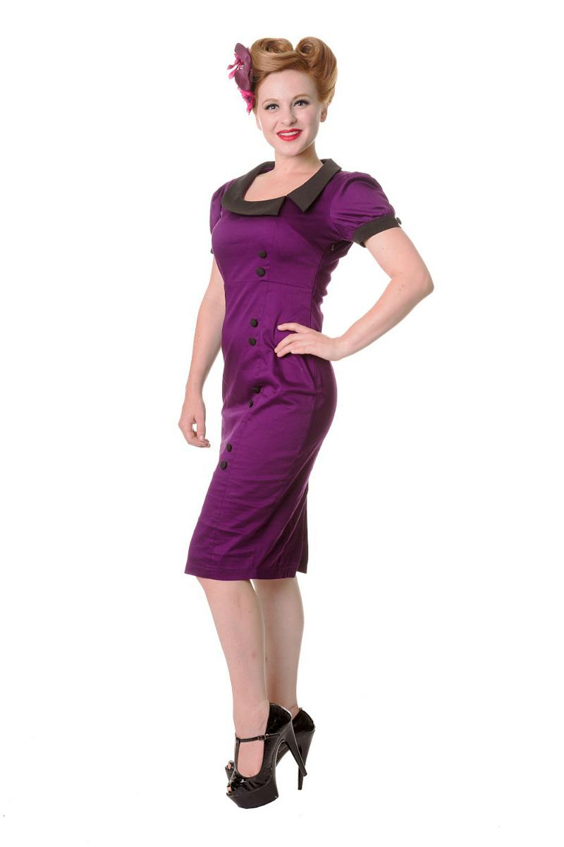 Purple Midi Banned Dress