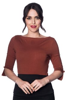 banned retro 50s oonagh brown top